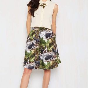 ModCloth I See What You Did Bear! Skirt